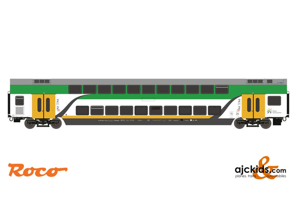 Roco 74161 3-piece set: Double deck coach