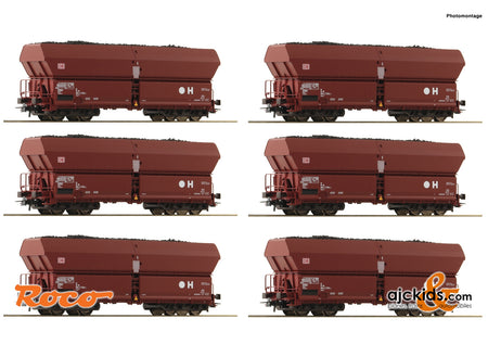 Roco 75894 - 12 piece display: Self unloading hopper wagons
