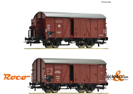 Roco 76012 - 2 piece set: Covered goods wagons