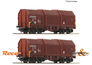 Roco 76042 - 2 piece set: Telescopic hood wagons