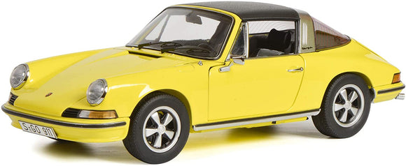 Schuco 450036400 - Porsche 911 S Targa, yellow 1:18 (Limited Edition of 500)