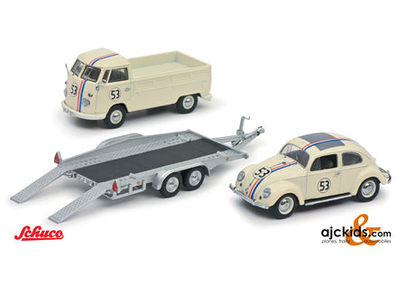 Schuco 450275800 - VW T1b with trailer VW Beetle #53 1:43