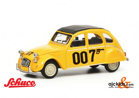 "Schuco 452016600 - Citroën 2CV ""007"", yellow, 1:64"