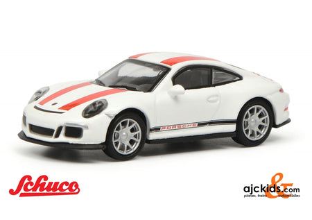 Schuco 452629900 - Porsche 911 R white/red 1:87