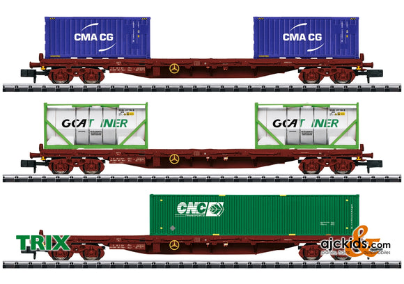 Trix 15072 - Container Flat Car Set