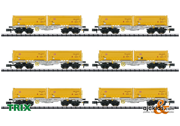 Trix 15075 - Container Flat Car Set