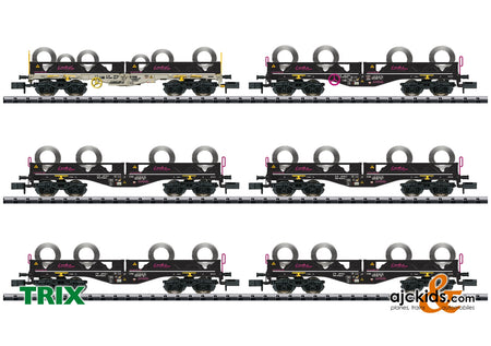 Trix 15080 - Coil Transport Freight Car Set