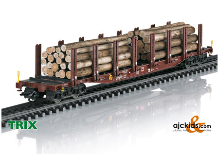 Trix 24146 - Wood Transport Stake Car Set
