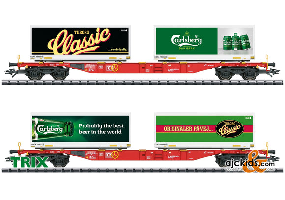 Trix 24509 - Carlsberg and Tuborg Container Transport Car Set