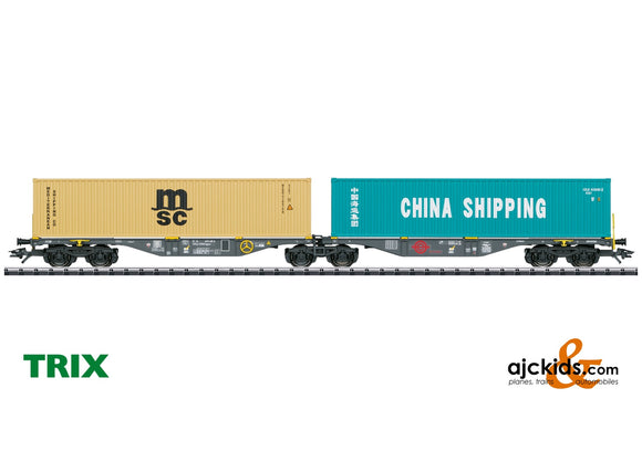 Trix 24803 - Type Sggrss 80 Double Container Transport Car