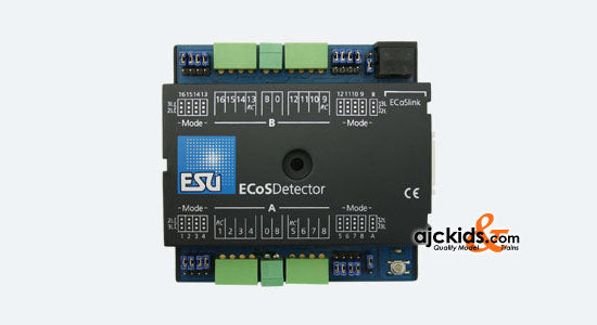 ESU 50094 - ECoSDetector feedback module, 16 dig. inputs, therefrom 4 RailCom® feedbacks. For 2-digit or 3-digit operation, Opto coupler