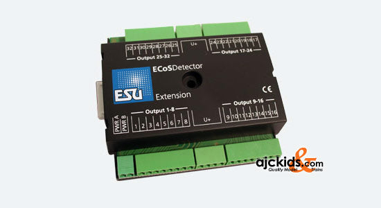 ESU 50095 - ECoSDetectior Extension. 32 digital outputs 100mA for little bulbs or LEDs, lighting track plan