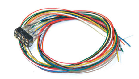 ESU 51950 - Cable harness with 8-pin plug acc. to NEM652, DCC cable colored, 30cm