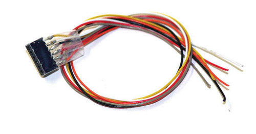 ESU 51951 - Cable harness with 6-pin plug acc. to NEM651, DCC cable colored, 30cm
