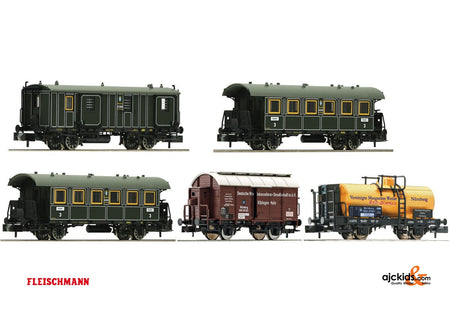 Fleischmann 809003 - 5pc. wagon set Goods train+pass. Transport