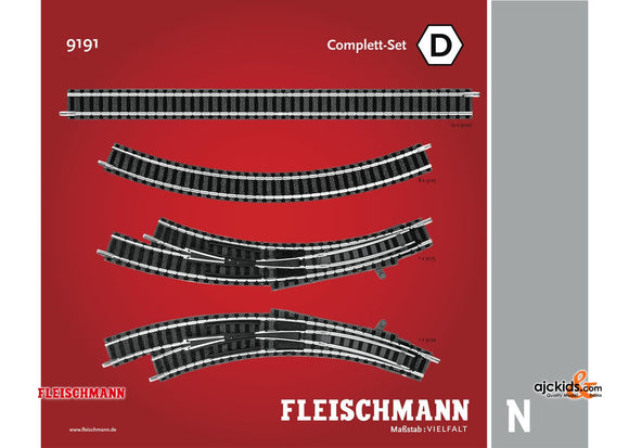 Fleischmann 9191 - Expansion track set D D