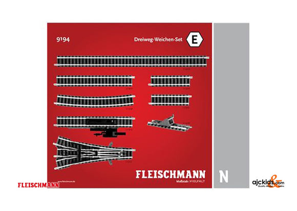 Fleischmann 9194 - Set: 3-way turnouts E