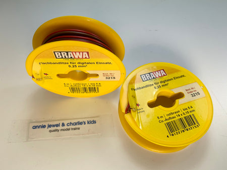 Brawa 3215 - Double-Wire 0.25 MM² 5 m drum brown/red