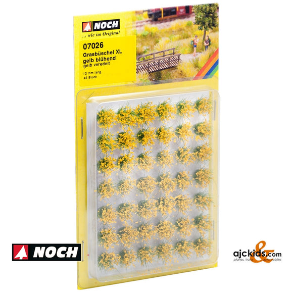 Noch 07026 - Grass Tufts XL Bloom Yellow 42/