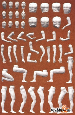 Preiser 45900 - Adam model Figures Unpainted (6 pieces), EAN: 404103245900