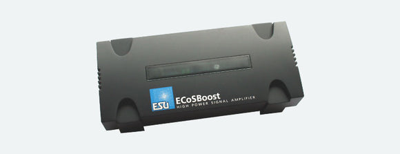ESU 50012 - ECoSBoost ext. Booster, 7A, MM/DCC/SX/M4, set with power supply  120-240V, EURO + US, German & English manual