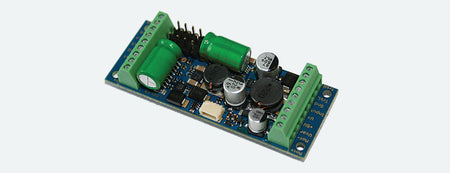 ESU 54640 - LokPilot XL V4.0 MM/DCC/SX/M4, 8 outputs, 4 servos, PowerPack, with screwing terminals