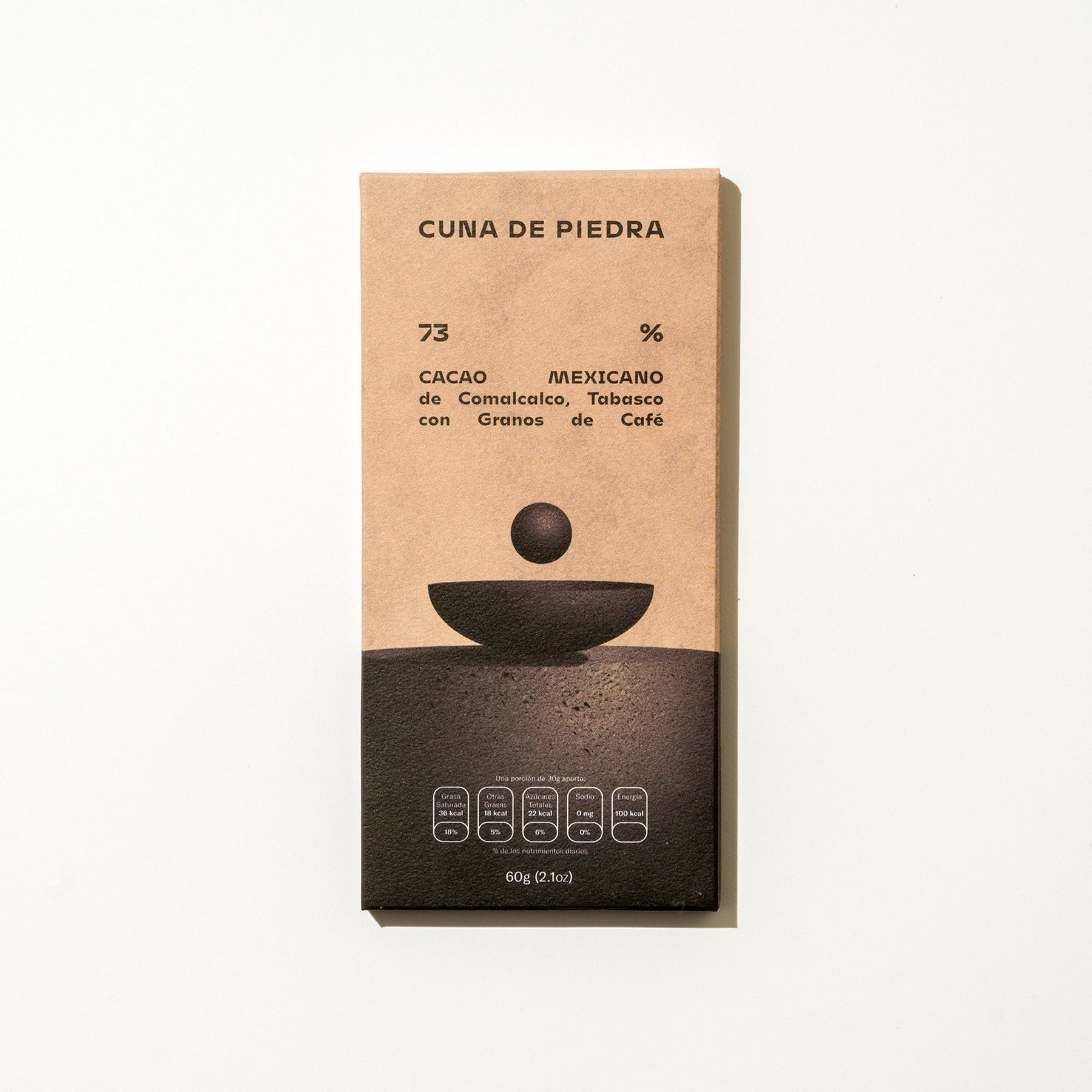 73% MEXICAN CACAO from Comalcalco Tabasco with Coffee Beans