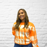 Orange Creamsicle Crop Sweatshirt