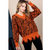 Let's Get Away V Neck Distressed Sweater - Rust