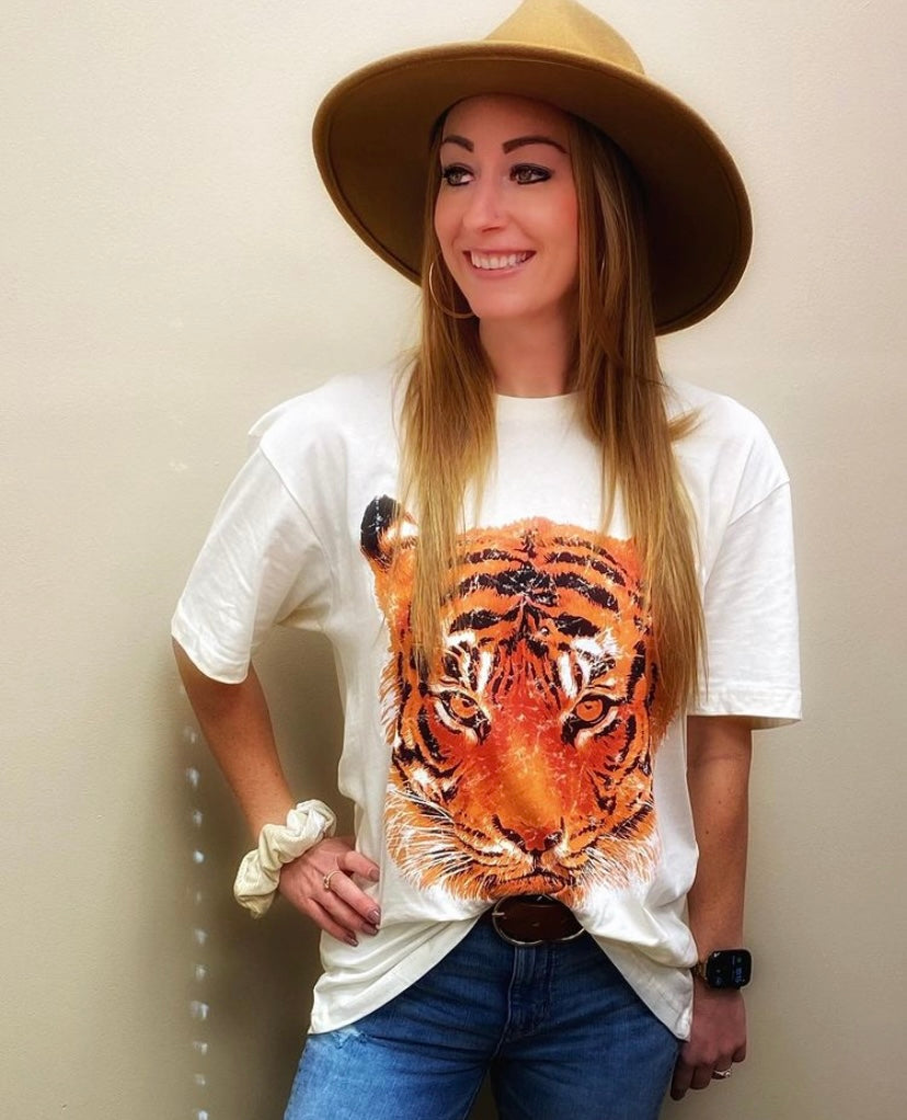 Catch A Tiger By It's Tail Oversized Graphic Tee