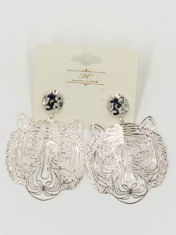 Go-To Silver Tiger Earrings