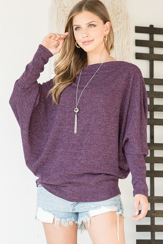 Pretty in Purple Dolman Sweater