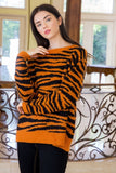 Tiger-Striped Sweater