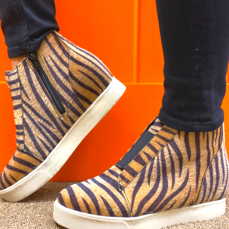 On the Prowl Tiger Print Wedges