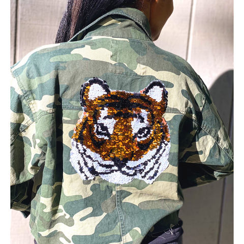 Camo Sequin Tiger Jacket