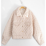 K-Lo Ivory Quilted Jacket