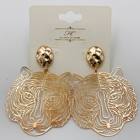 Go-To Gold Tiger Earrings