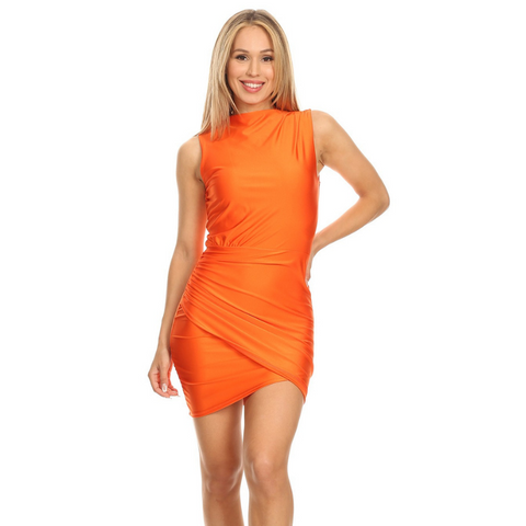 Socialite Orange Mini Dress