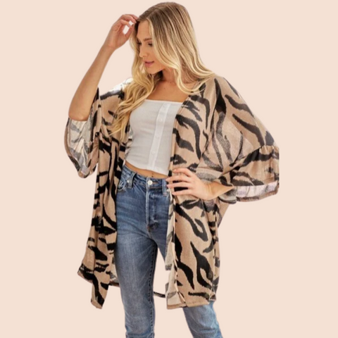 Go With The Flow Kimono - Beige