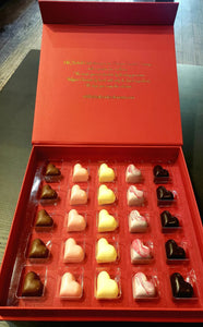 25 Piece Belgian Chocolate Heart Box