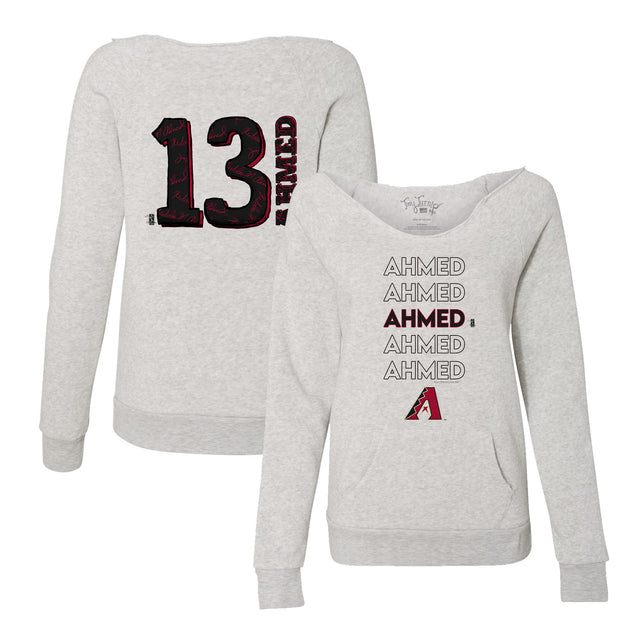 Arizona Diamondbacks Nick Ahmed Stacked Women's Slouchy Sweatshirt