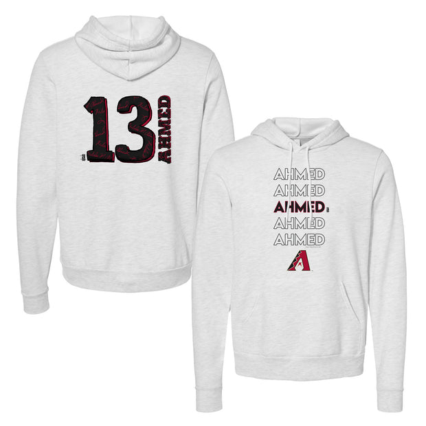 Arizona Diamondbacks Nick Ahmed Stacked Unisex Pullover Hoodie