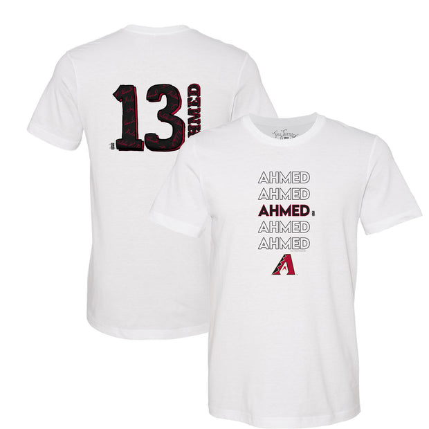 Arizona Diamondbacks Nick Ahmed Stacked Tee Shirt