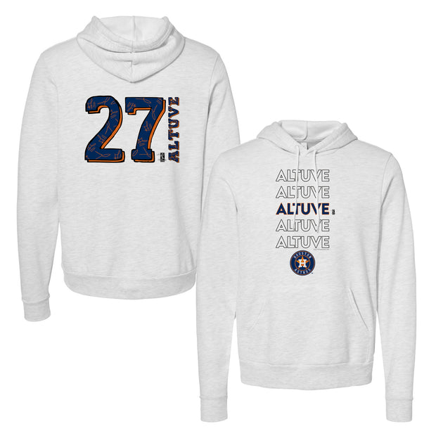 Houston Astros Jose Altuve Stacked Unisex Pullover Hoodie