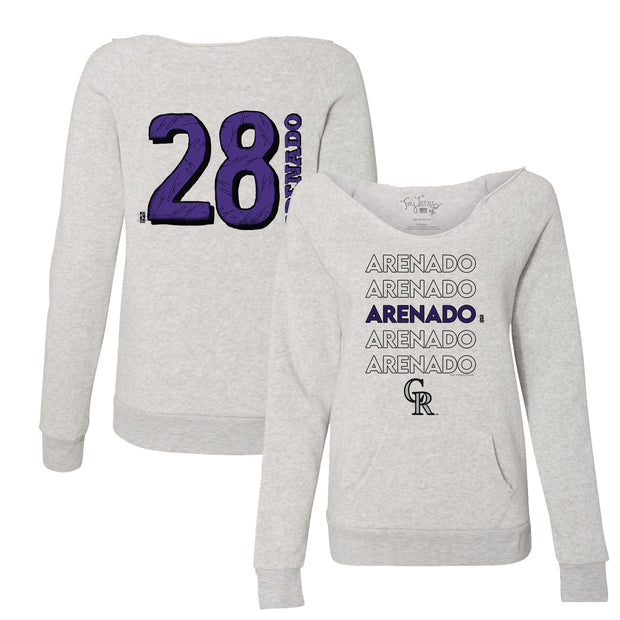 Colorado Rockies Nolan Arenado Stacked Women's Slouchy Sweatshirt