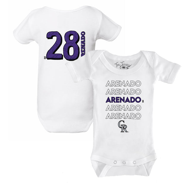 Colorado Rockies Nolan Arenado Stacked Short Sleeve Snapper