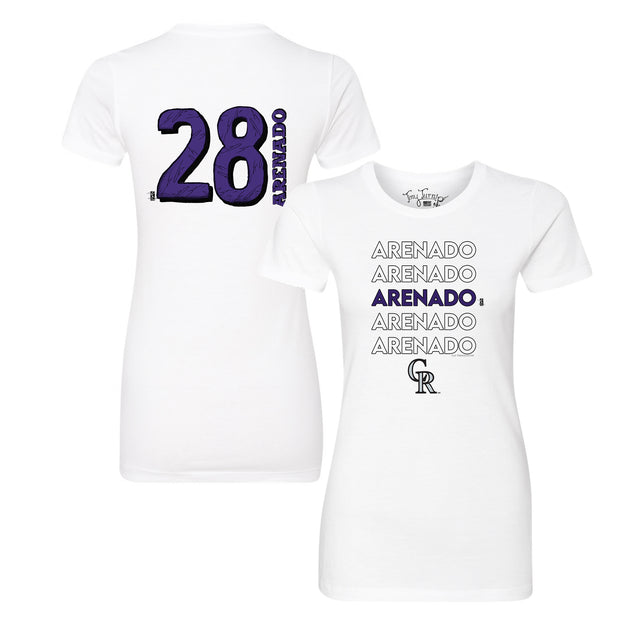 Colorado Rockies Nolan Arenado Stacked Tee Shirt