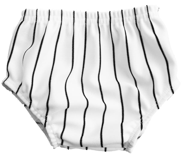 Tiny Turnip Black Infant Pinstripe Bloomers