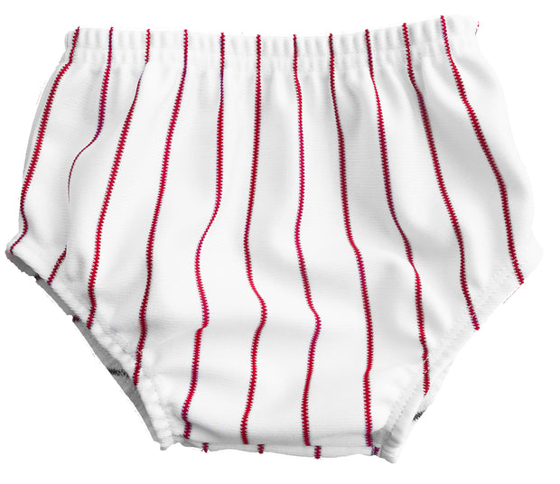 Tiny Turnip Red Infant Pinstripe Bloomers