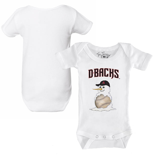 Arizona Diamondbacks Baseball Snowman Infant Short Sleeve Snapper